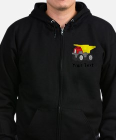 Personalizable Red Yellow Dump Truck Sweatshirt