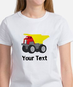 Personalizable Red Yellow Dump Truck T-Shirt