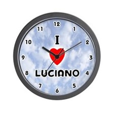 I Love Luciano (Black) Valentine Wall Clock