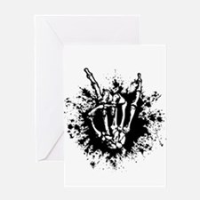 Rock in Bone Splat Greeting Cards