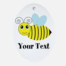 Personalizable Honey Bee Oval Ornament