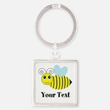 Personalizable Honey Bee Keychains