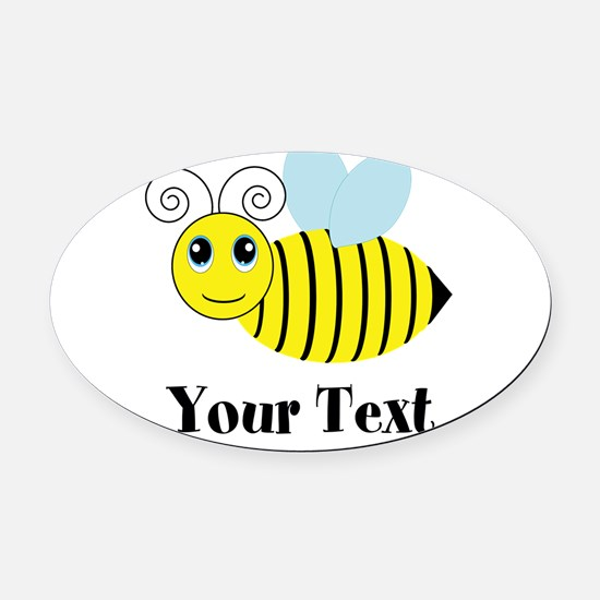 Personalizable Honey Bee Oval Car Magnet