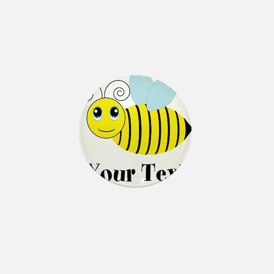 Personalizable Honey Bee Mini Button