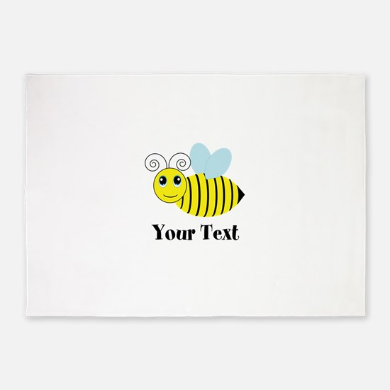 Personalizable Honey Bee 5'x7'Area Rug