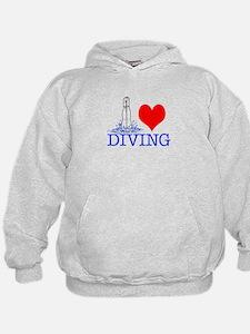 Love (heart) Diving Sweatshirt