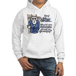 Mr. Gruff Atheist Witnessing Hooded Sweatshirt