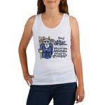 Mr. Gruff Atheist Witnessing  Women's Tank Top
