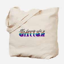 My favorite color is Glitter Tote Bag
