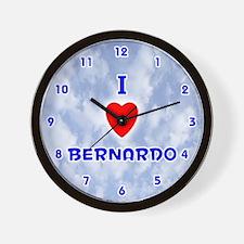 I Love Bernardo (Blue) Valentine Wall Clock