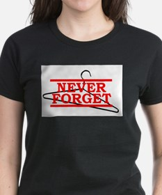 Never Forget (Abortion Hanger) Ash Grey T-Shirt