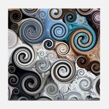 Rock Swirls Tile Coaster
