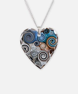 Abstract Rock Swirls Necklace