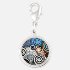 Abstract Rock Swirls Charms