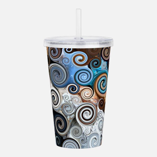 Abstract Rock Swirls Acrylic Double-wall Tumbler