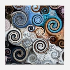 Abstract Rock Swirls Tile Coaster