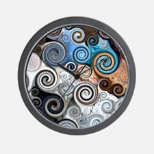 Abstract Rock Swirls Wall Clock