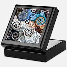 Abstract Rock Swirls Keepsake Box