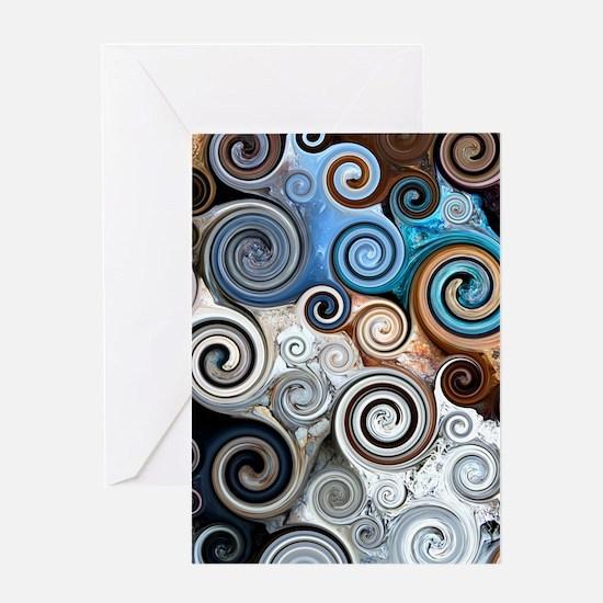 Abstract Rock Swirls Greeting Card