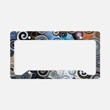 Abstract Rock Swirls License Plate Holder