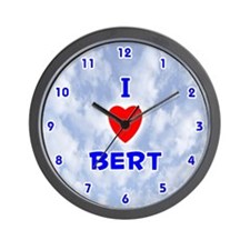 I Love Bert (Blue) Valentine Wall Clock