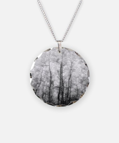 Black and White Aspens Necklace
