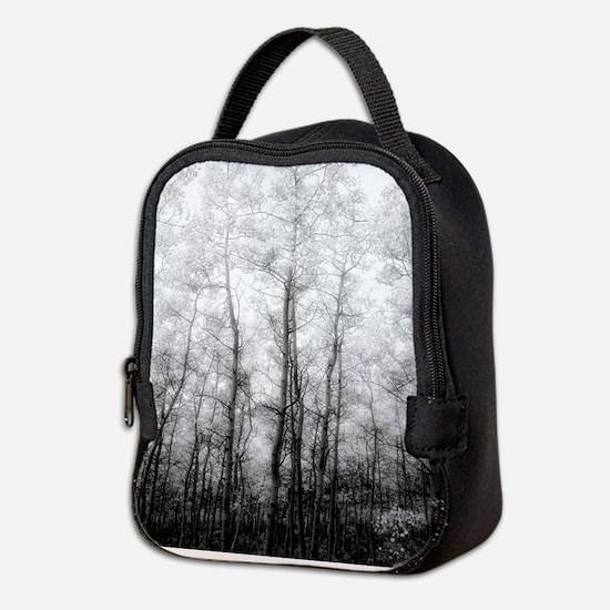 Black and White Aspens Neoprene Lunch Bag