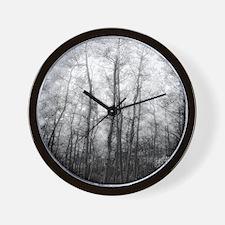 Black and White Aspens Wall Clock