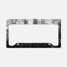 Black and White Aspens License Plate Holder