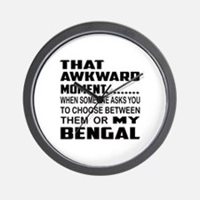 That awkward moment.... Bengal cat Wall Clock