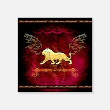 Lion in golden colors Sticker