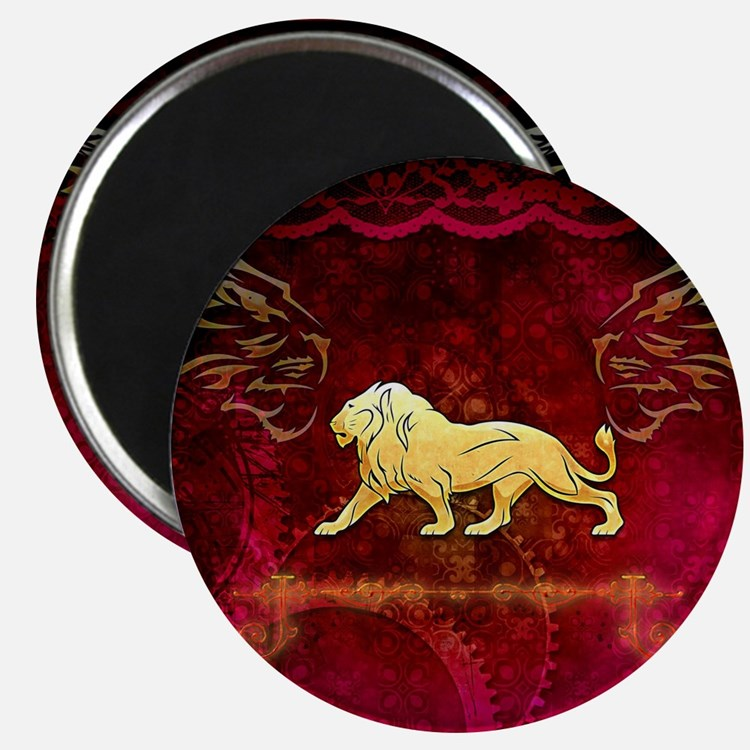 Lion in golden colors Magnets