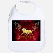 Lion in golden colors Baby Bib