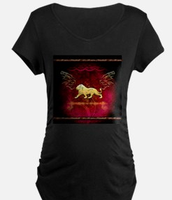 Lion in golden colors Maternity T-Shirt