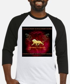Lion in golden colors Baseball Jersey