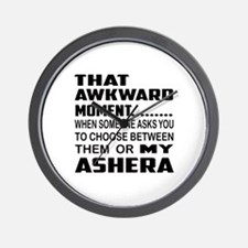 That awkward moment.... Ashera cat Wall Clock