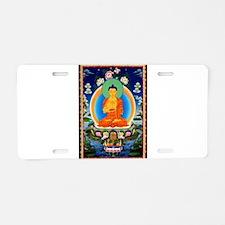 Tibetan Thangka Prabhutarat Aluminum License Plate