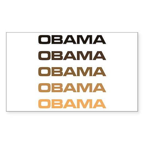 Obama Obama Obama Rectangle Sticker