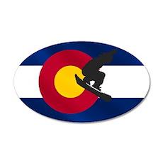 Colorado Snowboard Flag Wall Decal