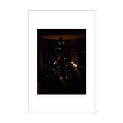 Christmas Tree at Night Posters