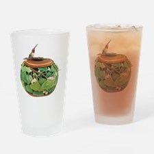 Cute Hummingbird art Drinking Glass