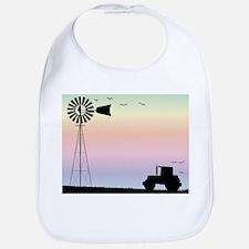 Farm Morning Sky Baby Bib