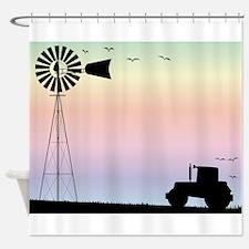 Farm Morning Sky Shower Curtain