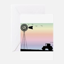 Farm Morning Sky Greeting Cards