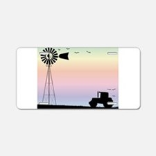 Farm Morning Sky Aluminum License Plate