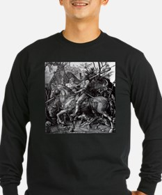 Knight & Devil Durer 1471-1528 Long Sleeve T-Shirt