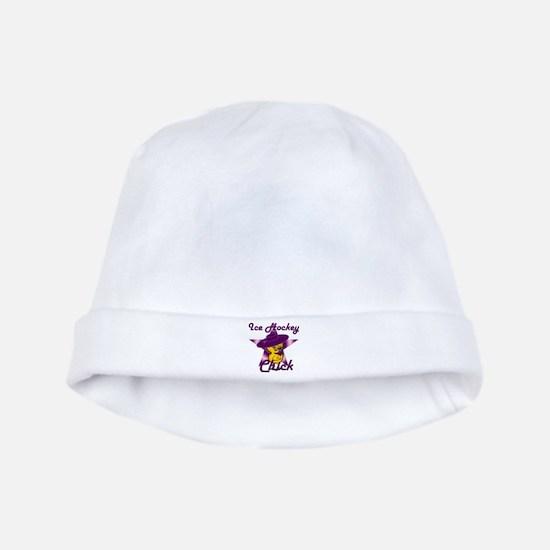 Ice Hockey Chick #9 baby hat