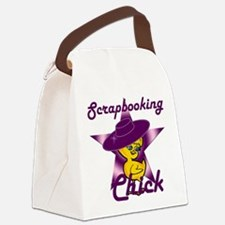 Scrapbooking Chick #9 Canvas Lunch Bag