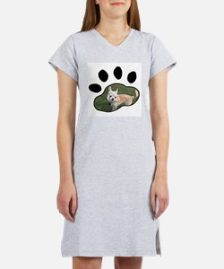 Personalized Paw Print Women's Nightshirt