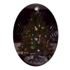 O Christmas Tree Oval Ornament
